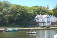 Rowing up Bude Canal