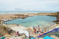 Bude free beach swimming pool